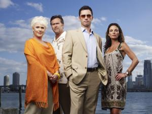 Sharon Gless, Bruce Campbell, Jeffrey Donovan and Gabrielle Anwar