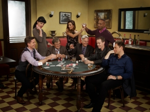 Brian Dietzen, Pauley Perrette, David McCallum, Cote de Pablo, Mark Harmon, Rocky Carroll, Sean Murray & Michael Weatherly (Source: CBS)