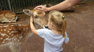 Awww, Bambi is kissing me!